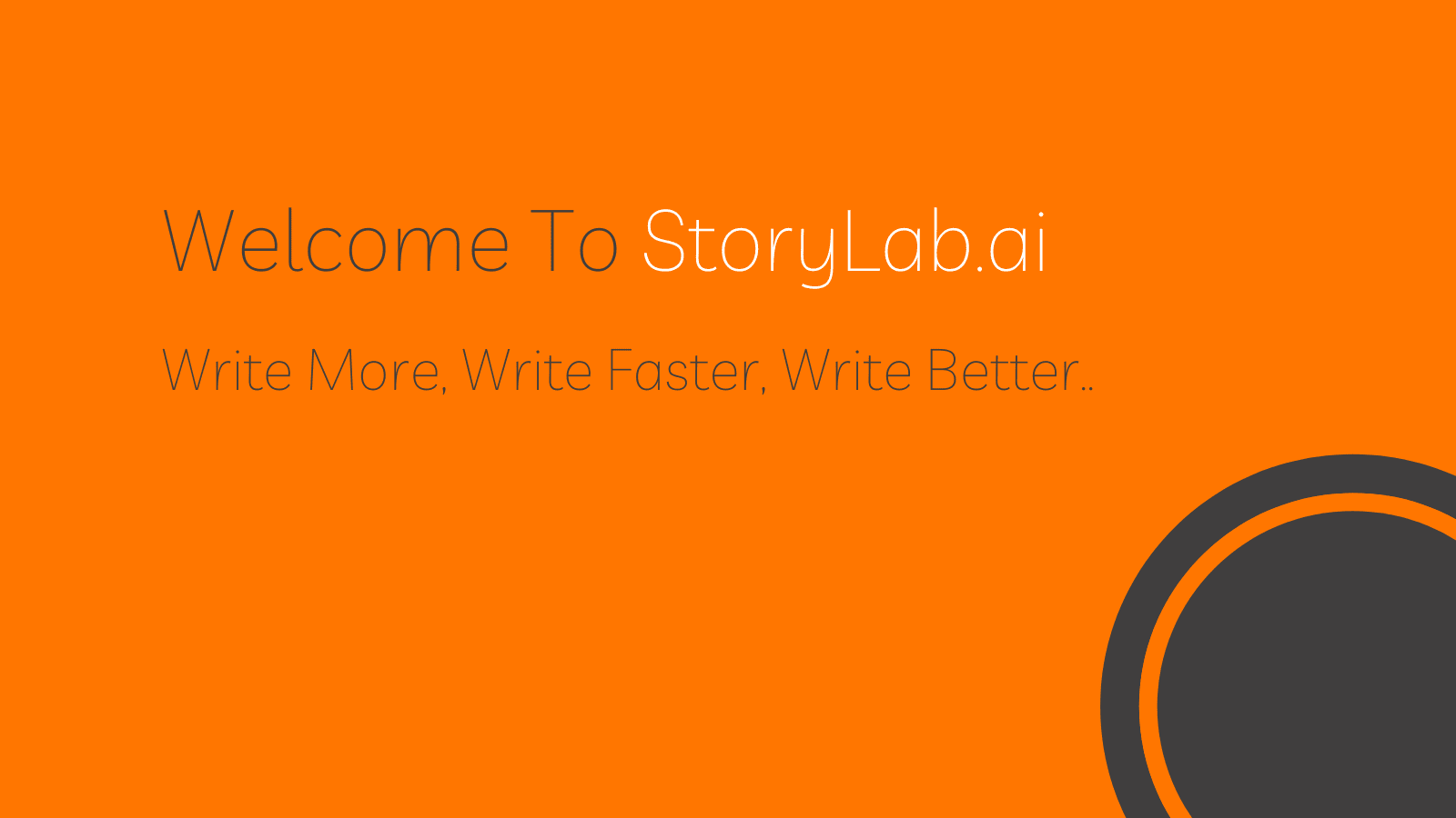 Welcome To StoryLab.ai